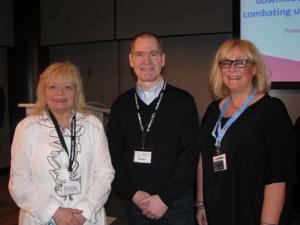 Monika, formaður NMU, Gylfi Garðarsson og Ger Hatton frá ICMP